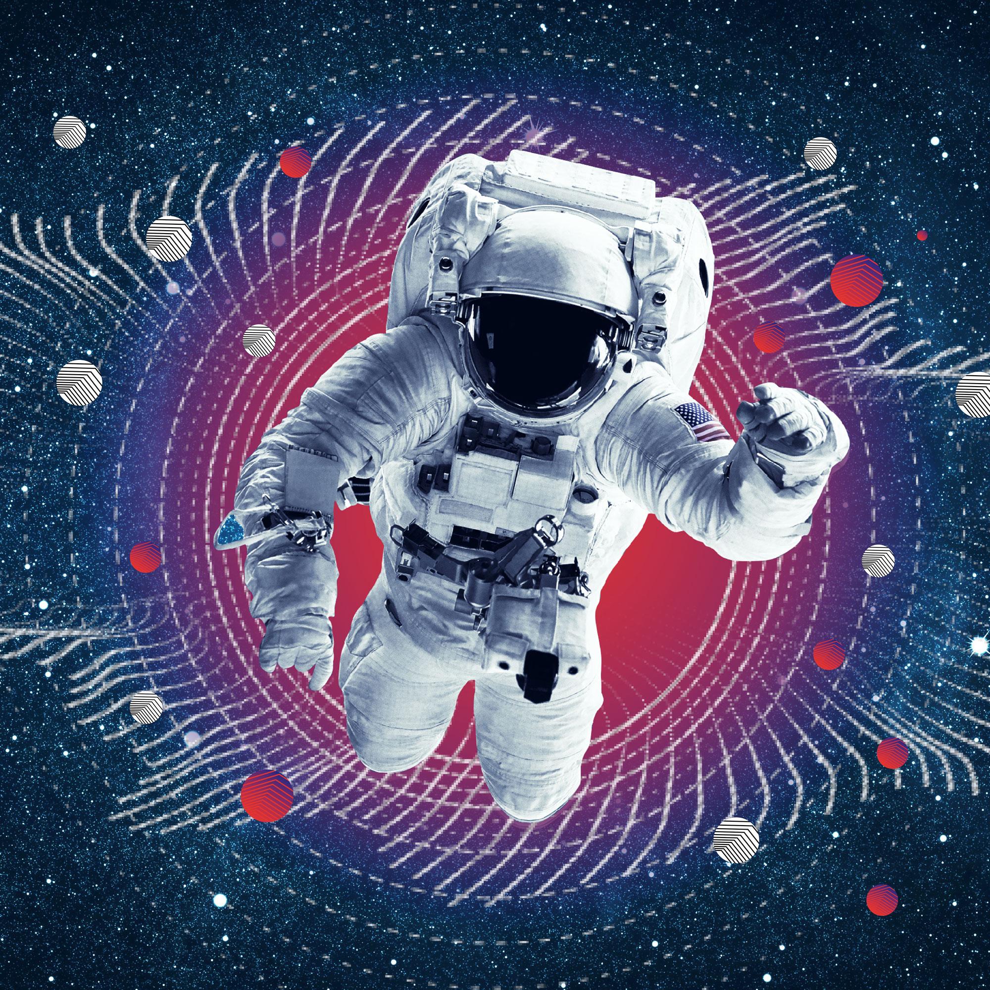 Bild eines Astronauten im GAINER-Stil